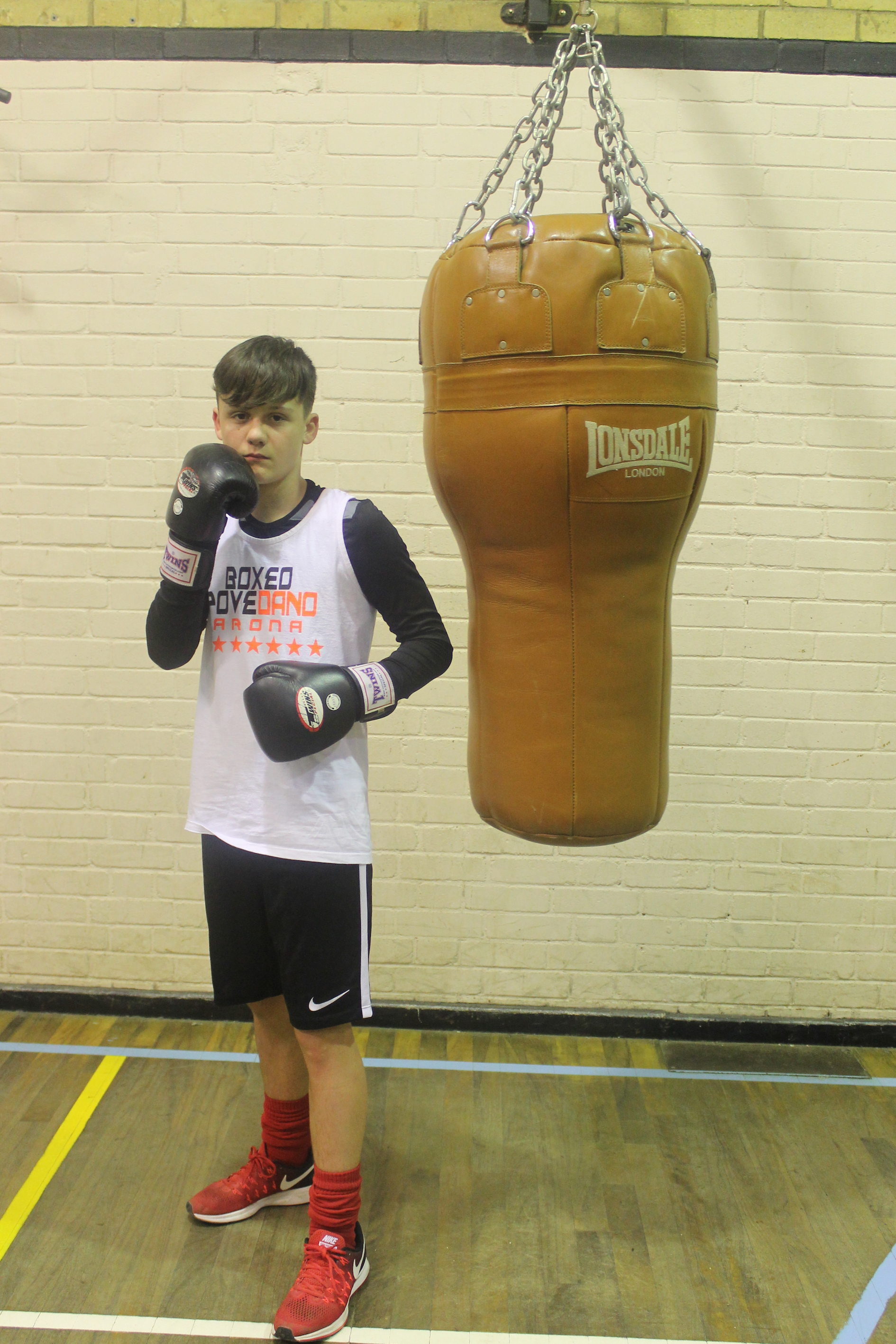 Kieran Clarke- Junior Boxer @ Blackbird Leys Amateur Boxing Club Oxfors